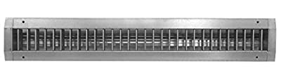 Aluminum Spiral Duct Air Vent Grille Cover - Fully Adjustable Double Deflection HVAC Air Supply