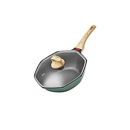 XGLIPQ Antihaftbeschichtete Aluminium-Antihaft-Pfanne, 32 cm offenes Feuer, Induktionsherd, Gasherd, Steak-Pfanne, Suppentopf. Leicht, einfach zu bedienen, leicht zu reinigen