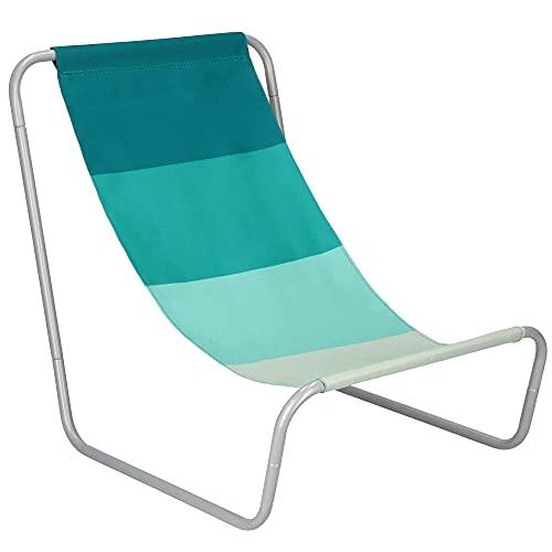 SPRINGOS Tumbona de playa compacta con bolsa de transporte, plegable, tamaño: 50...