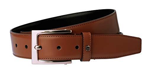 Aigner Gürtel Basic mit S-Schließe silber 126446 cognac-110 cm