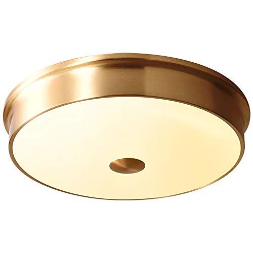 nakw88 Lámpara de Techo Todas Las Luces de la Sala de Estar del Dormitorio Americano de Cobre Luces del Pasillo balcón atmosférico Simple Retro lámpara Circular decoración 32 cm * 32 cm * 8cm