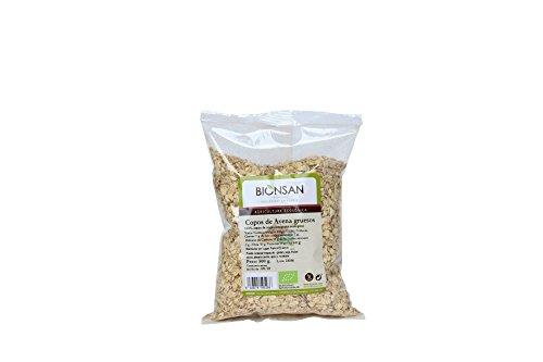 Bionsan Copos de Avena Ecológica Gruesos | 4 Paquetes de 500 gr | Total: 2000 gr