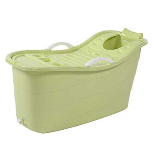 Bañera Plegable Bañera de Plástico, Lavabo de Bañera Sólido de Plástico Grande de Remojo Portátil, Piscina Infantil Multifuncional (Color : Style3)
