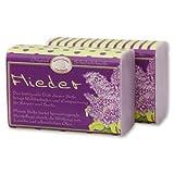 Schafmilchseife Flieder 100g - Florex Schafmilchseife - Hochwertige Naturseife - Verpackt