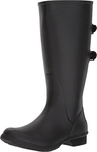 Chooka Women's Wide Calf Memory Foam Rain Boot, Black, 11