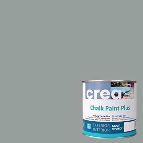 Pintura a la Tiza – Chalk Paint – Pinturas para decoración, restauración de muebles, madera – Pintura efecto Tiza (500ml) (Gris Azulado)