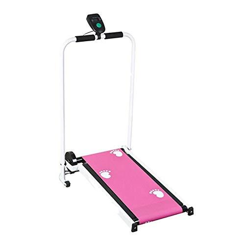 jooe Tapis Roulant Simple De Ménage,Mini Machine Marche Remise en Forme Manuelle pour Machine De Fitness à Domicile,Pink
