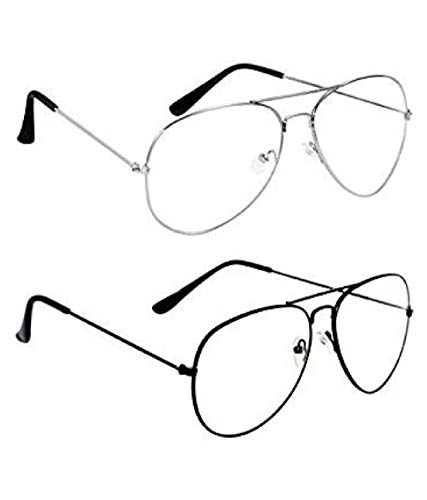 Shadz aviator clear lense 2 combo pack sunglasses