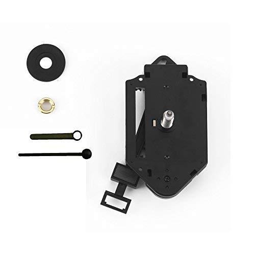 Clock-it Meccanismo Pendolo di qualità H canotto 24 mm con lancette plastica Nere - Kit per Riparazione, Sostituzione o Realizzazione Orologi Pendolo da Parete. Azienda Italiana specializzata.