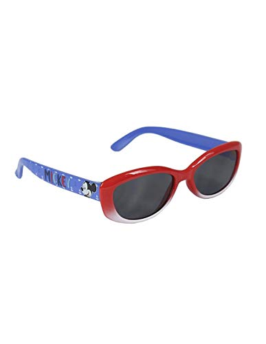 Mickey - Gafas de sol con funda para niño (3 a 8 años) rojo/azul Talla única