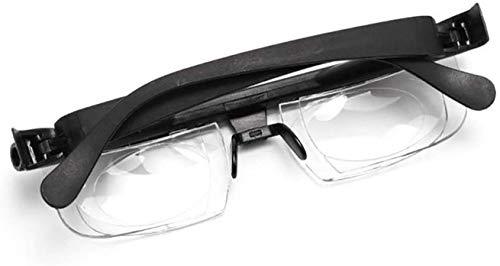 DFJU Gafas, Lente de Fuerza Ajustable Lectura Miopía Gafas Gafas Visión de Enfoque Variable -6D a + 3D Corrección de Lente Variable Miopía