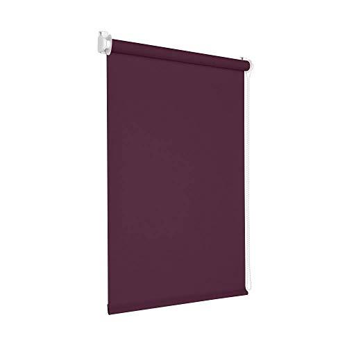 Victoria M. Tenebra Verdunkelungsrollo Rollo ohne Bohren für Fenster und Türen, 145 x 160 cm, lila aubergine