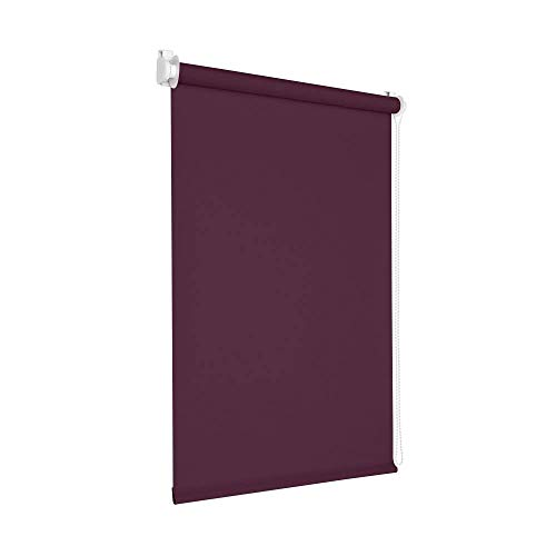 Victoria M. Tenebra Verdunkelungsrollo Rollo ohne Bohren für Fenster und Türen, 130 x 160 cm, lila aubergine