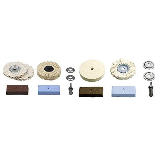 Wolfcraft 2179000Juego profesional de pulido para metales, plástico, marmol etc. contenido + 2178000Juego hobby de pulido para metales, plástico, marmol etc. contenido: pasta de pulido