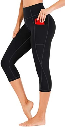 Heathyoga Yoga Pants for Women with Pockets Capri Leggings for Women High Waisted Leggings with product image