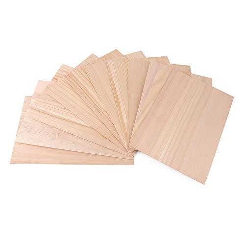 ewtshop® 10 Bastelholz-Platten, 30 x 20 cm, Dicke 1,5 mm, für Modellbau, zum Gravieren, Bemalen oder Basteln