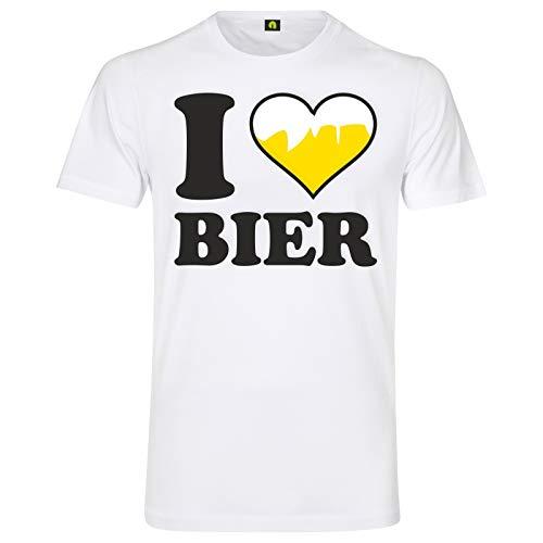I Love Bier T-Shirt | Ich Liebe | Beer | Alkohol | Saufen | Party | Weizen Weiß 3XL