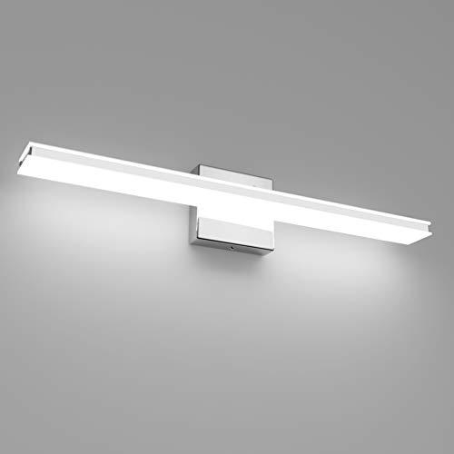 Klighten Spiegelleuchte,20W,2000LM Bad Spiegellampe,LED Badleuchte,6000K Kaltweiß Badezimmer Badlampe für Spiegel,60CM