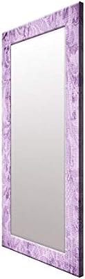 999Store Printed Violet Floral Pattern Mirror