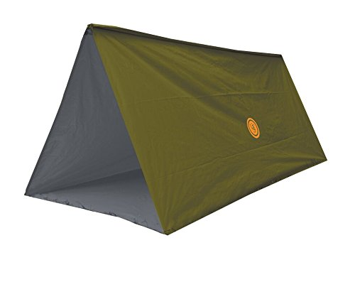 UST Tube Tarp and Camping Shelter with Compact, Multifunctional Use and Reversible and Flame Retardant Construction for Emergency, Hiking, Camping, Backpacking and Outdoor Survival