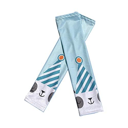Uteruik Kinder UV Schutz Arm Sleeves Bär Gedruckt Kühlend Sonnenschutz Arm Cover für Outdoor Sport 1 Paar (#C)