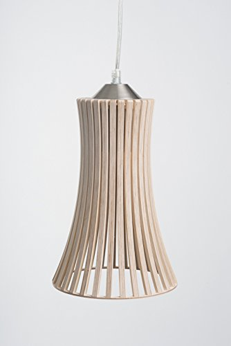 MK Design plafonnier lustre suspension en bois Kavia naturel