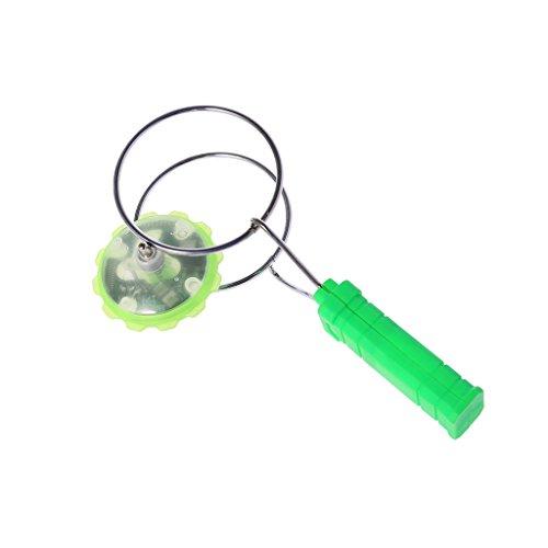 Fuwahahahahah magnetisches Gyro-Rad, magisch, drehbar, LED, buntes Licht Gyro YoYo Spielzeug für Kinder grün