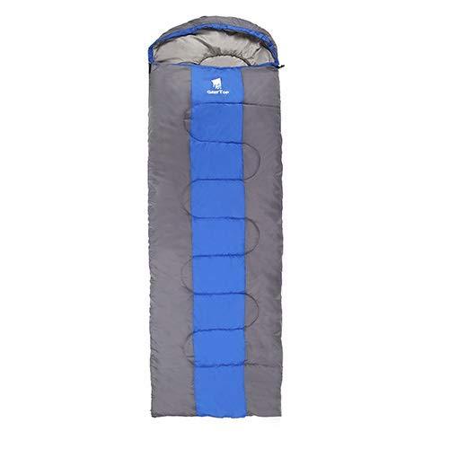 Unbekannt Sport im Freien GeerTop Ultralight Camping Schlafsack unten for Erwachsene Wasserdichtes Fluff Schlafsäcke mit Kompressionssack Winter-Tourismus Gefüllt (Color : Blue Left Zip)