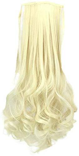 Extension de cheveux perruque Piece Tied Corde poire poney queue couleur poney Queue droite Queue Rouleau poney, [Volume Ponytail] Chatain (Color : [Volume Ponytail] Beige)