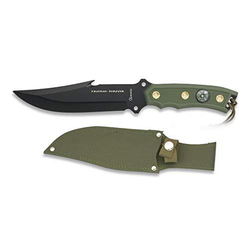 Tiendas LGP Albainox - 31365 - Cuchillo Albainox Freedom Forever. H:16,3 cm - Herramienta para Caza, Pesca, Camping, Outdoor, Supervivencia y Bushcraft