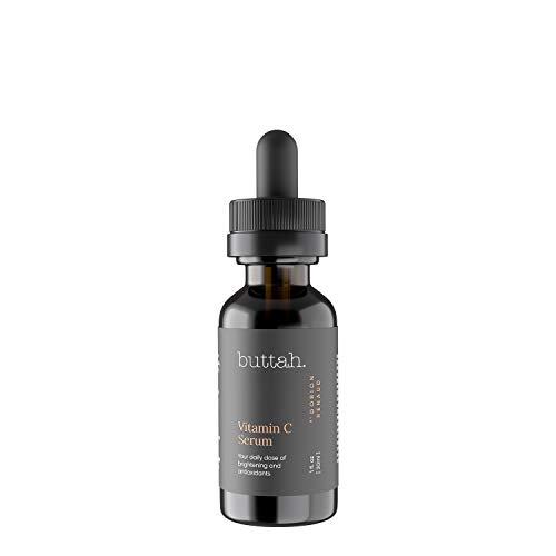 Buttah Skin Vitamin C Serum 1 FL oz e 30mL - For Face - Vitamin E - Ferulic Acid - Green Tea