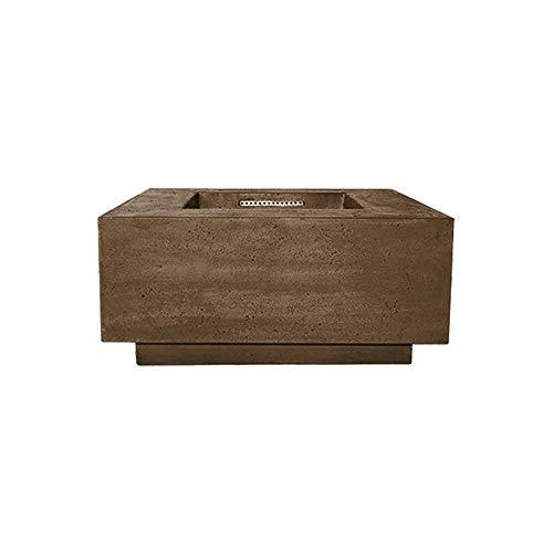 Find Discount Prism Hardscapes Tavola 2 Concrete Gas Fire Pit (PH-406-1LP), Propane, Cafe, 36x36-Inc...