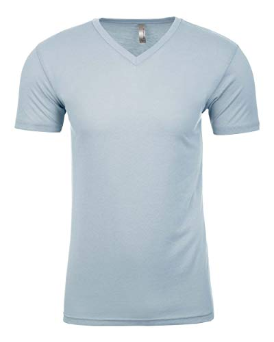 Next Level Mens Premium Fitted Sueded V-Neck Tee (6440) Light Blue 2XL