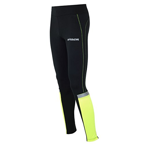 Airtracks Damen FUNKTIONS Laufhose/Running Tight/Reflektoren - LANG - M - neon