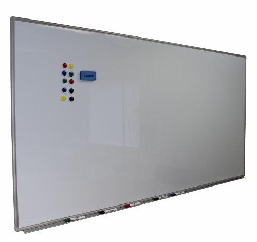 Dynamic-Wave Whiteboard 110cm x 80cm mit Alurahmen, magnetisch, trocken und nass abwischbar