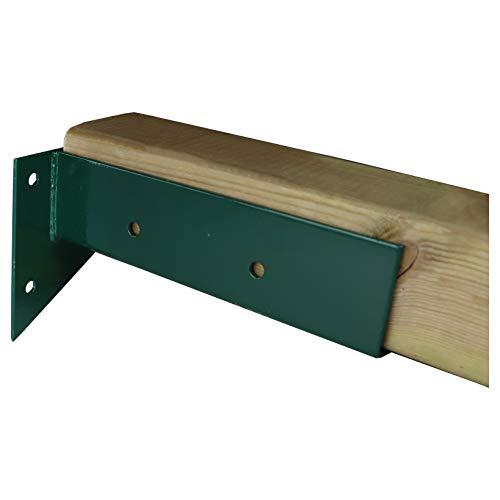 Gartenpirat Wand - Schaukelverbinder für quadratische Pfosten 90x90mm grün