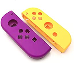 Faceplate Housing Shell Case Cover+Battery Middle Frame for Nintendo Switch NS NX Joy-Con Controller-Purple-Orange