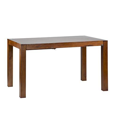 Gael Table Extensible 160/210 Teck - Bois - 160x90x78 cm - Couleur Teck
