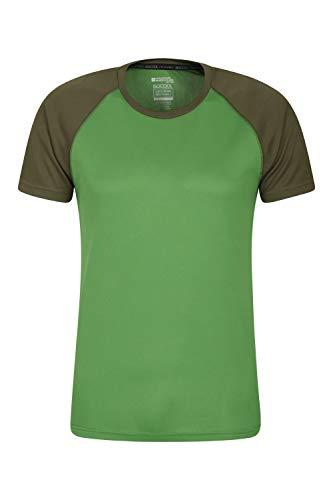 Mountain Warehouse Endurance Herren-T-Shirt - atmungsaktiv, UPF-30-Schutz, leichtes, bequemes und schnell trocknendes Oberteil - für Fitnessstudio, Reisen, Wandern Grün XS