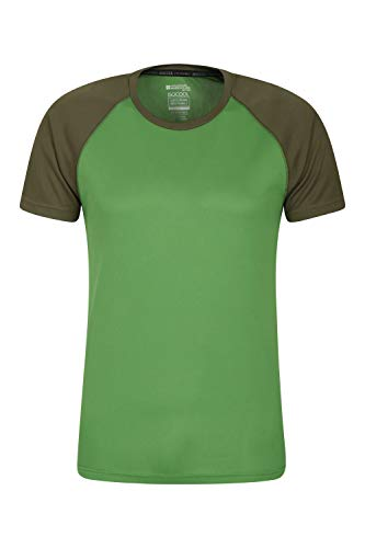 Mountain Warehouse Camiseta para Hombres Endurance - Transpirable, de protección Solar UPF30, Camiseta Ligera y cómoda, Cuidado fácil Verde XL