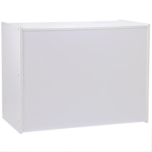 MonsterShop - Mostrador A1200 Blanco Lila Elegante para Tienda y Recepción 120cm x 60cm x 90cm No Blanco Puro