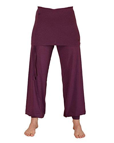 ZAMKARA Damen Yogapant Jaipur, Bio-Baumwolle, Purple, M