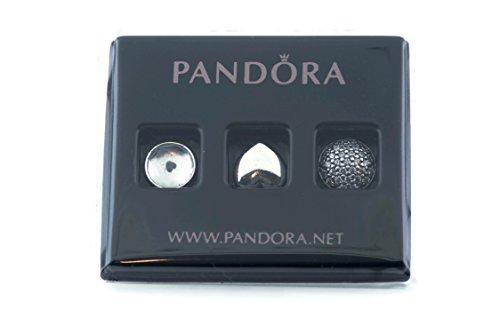 PANDORA 792091NAB - Juego de Joyas de Mujer de Plata 925, circonita Azul