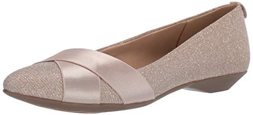 Price comparison product image Anne Klein AK Sport Women's Oalise Flats Ballet,  Gold Multi,  8 M US