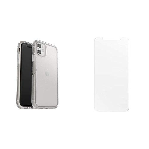 OtterBox Symmetry Clear Series, Clear Confidence for iPhone 11 - Stardust (77-62821) & Clearly Protected Performance Glass for Apple iPhone 11/XR