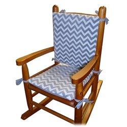 Baby Doll Bedding Minky Chevron Junior Rocking Chair Pad, Pink