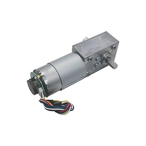 Motor de engranaje helicoidal de 12 V, 24 V, motor de engranaje helicoidal, doble eje, alto par de torsión 11PPR Encoder motor de engranaje helicoidal (velocidad (RPM) : 260 RPM, voltaje (v): 12 V)