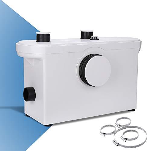 wolketon 3/1 Triturador Sistema De Elevación 600W Bomba De Agua De Aguas Residuales WC Bomba Doméstica De Elevación De Aguas Residuales Inodoro