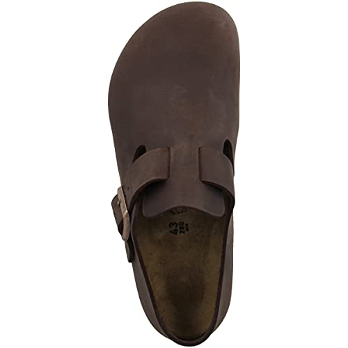 Birkenstock Shoes BIRKENSTOCK Shoes Halbschuh London Habana Leder Gr. 35-48 166531 + 166533, Größe + Weite:42 schmal