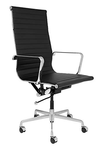 Laura Davidson Furniture SOHO Tall Back Ribbed Management Chair (Black)